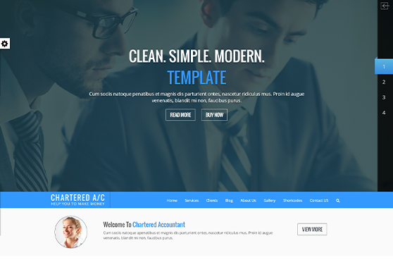 Chartered Accountant HTML Website Template