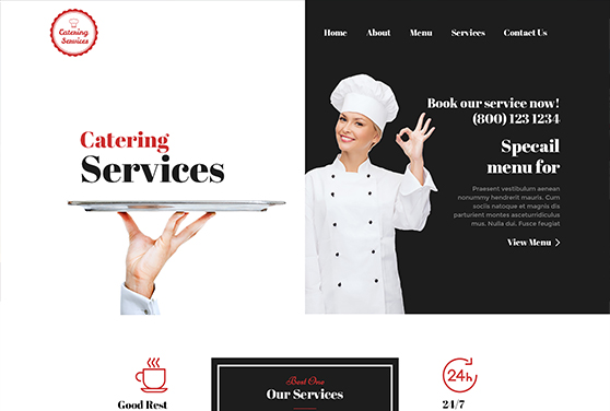 Catering Services Psd Template