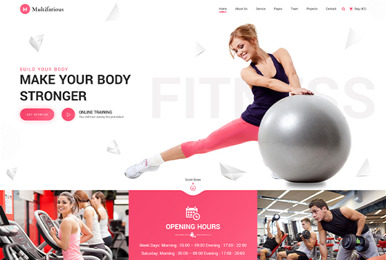 Fitness & Gym Template