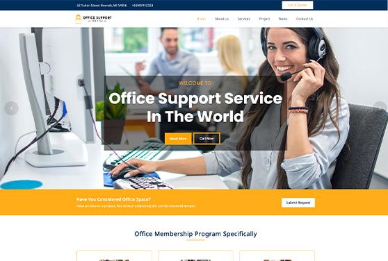 Office-Support Service WordPress Theme